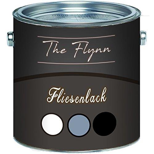 The Flynn hochwertiger Fliesenlack glänzend Grau Weiß Schwarz Cremeweiß Anthrazitgrau Lichtgrau Silbergrau 2 Komponenten Fliesenlack inkl. Härter (1 L, Anderer RAL-Farbton (Bitte RAL Wert senden))