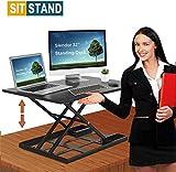 Standing Desk Stand Up Desks Height Adjustable 32 inch Sit Stand Converter Dual Monitor Ergonomic...