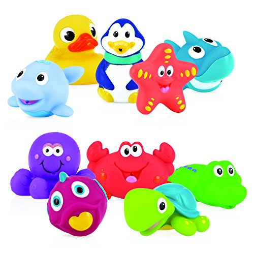 Nuby 10-Piece Bath Squirters, Multi