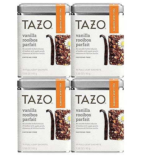Tazo Vanilla Rooibos Full Leaf Tea, 15 Count Sachets (Pack of 4)