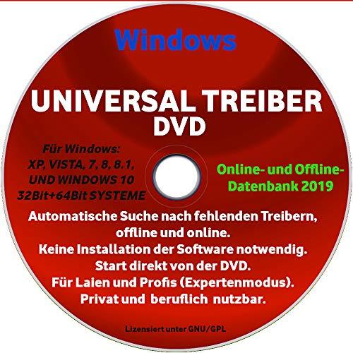 2019 - WINDOWS XP BIS 10 UNIVERSAL TREIBER CD DVD FÜR COMPUTER LAPTOP NOTEBOOK