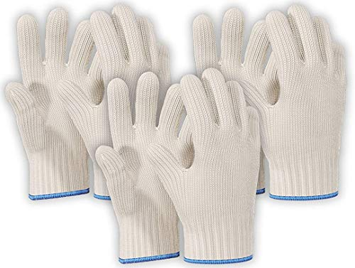 Killer's Instinct Outdoors 3 Pairs Heat Resistant Gloves Oven Gloves Heat Resistant with Fingers Oven Mitts Kitchen Pot Holders Cotton Gloves Kitchen Gloves Double Oven Mitt Set