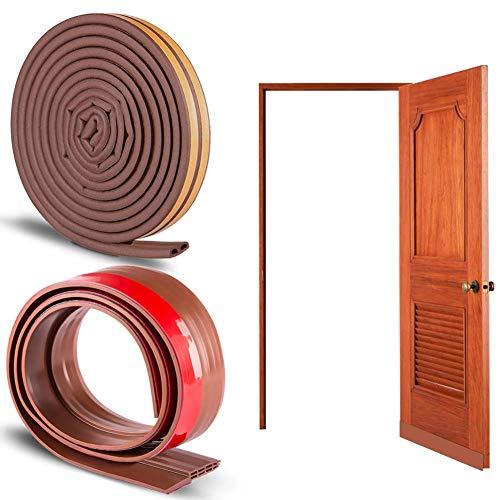 SINBLUE - Kit de puerta de aislamiento acústico insonorizante (Marrón)