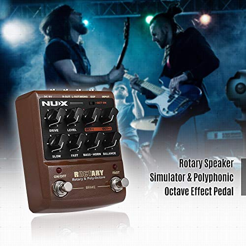 MIEMIE Guitar Effect Pedal, 2 In 1 Rotary Speaker TSAC Technology Adjusts Bass and Speaker Volume Balance Suitable for Electric Guitar and Electronic Keyboard