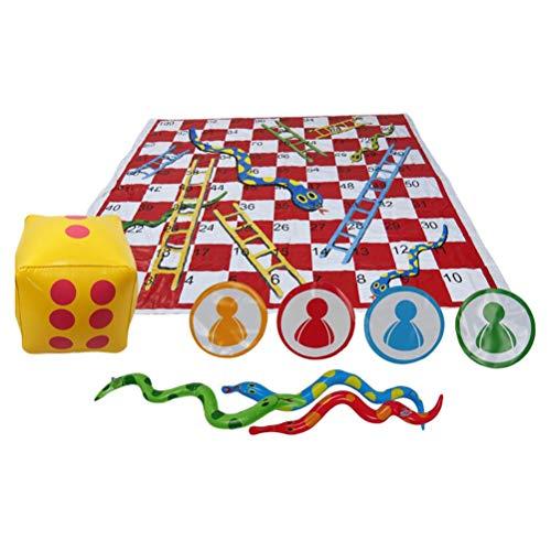 spier Juego de mesa, serpientes y escaleras, juego de mesa grueso de...