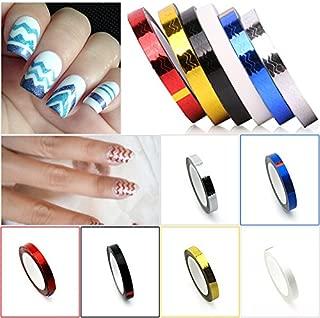 KADS 6pcs/set Nail Waves Striping Tape Line DIY Nail 3D Tips Decoration Stickers For Nail Beauty