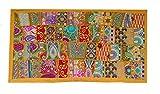 Rastogi Handicrafts - Tapiz para colgar en la pared (amarillo, 50,8 x 101,6 cm)