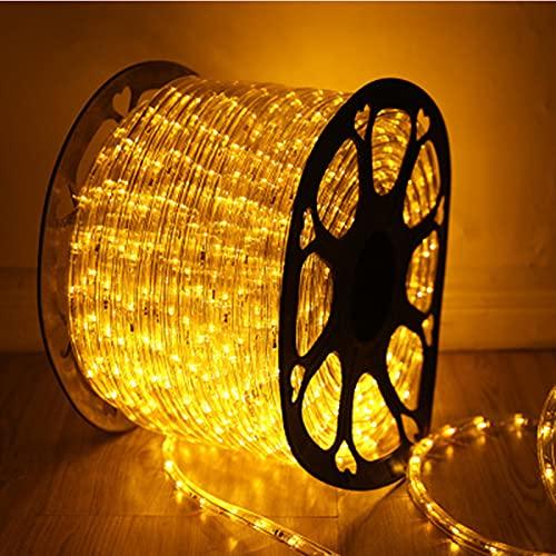 Syfinee Tira LED de 24/32 luces, 10 m/30 pies al aire libre impermeable conectable tira de luz de corte, iluminación para decoración de interiores como cocina, comedor, balcón