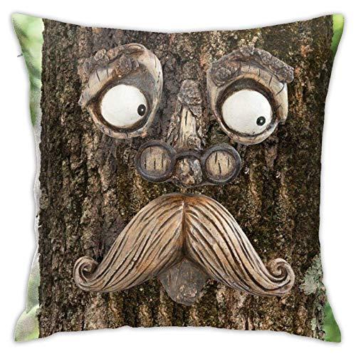 suichang Alter Mann Baum Hugger Moderne dekorative Kissenbezug, geeignet für die Dekoration Sofa, Büro, Schlafzimmer, Wohnzimmer18 x18 Zoll