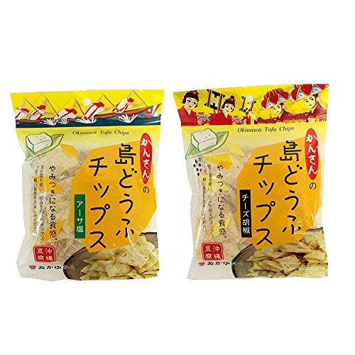 島どうふチップス アーサ塩 チーズ胡椒 2種セット 65g×各3袋 あかゆら 沖縄豆腐 とうふがサクッ やみつき食感 ヘルシーなおやつ