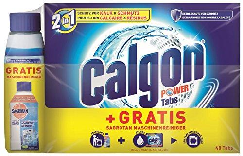 Calgon 2in1 Tabs (48 Stück) + Sagrotan Waschmaschinen Hygiene-Reiniger (250ml) GRATIS