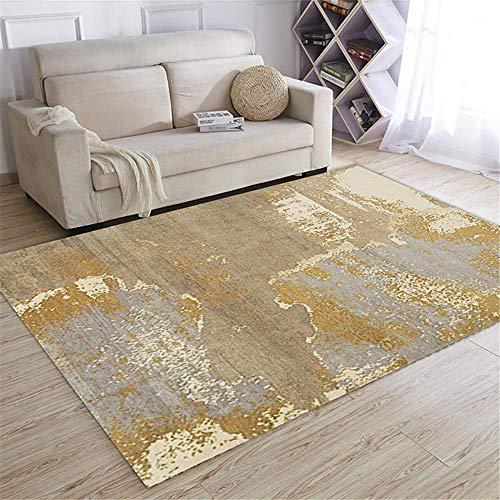 WQ-BBB Salón Alfombra El Juego Estilo Abstracto Blanco cremoso Gris marrón Simple alfombras de Pasillo 160X230cm