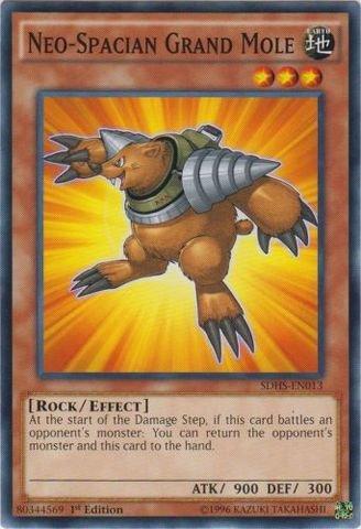 YU-GI-OH! - Neo-Spacian Grand Mole (SDHS-EN013) - Structure Deck: Hero Strike - 1st Edition - Common