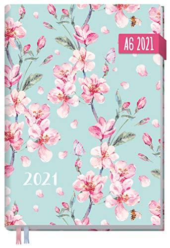 Chäff-Timer Mini A6 Kalender 2021 [Floral] mit 1 Woche auf 2 Seiten | Terminplaner, Wochenkalender, Organizer, Terminkalender mit Wochenplaner | nachhaltig & klimaneutral