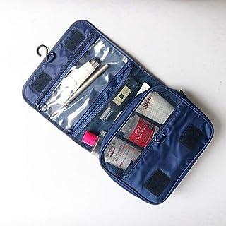 حقائب تخزين - حقيبة سفر قابلة للطي لمستحضرات التجميل قابلة للطي لتنظيم أدوات الزينة وحقيبة تخزين إكسسوارات السفر (أزرق داكن)