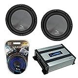 Harmony Audio (2) HA-R124 Sub Rhythm Series 12' 600W Peak Subwoofer Bundle with HA-A400.1 Amplifier & Amp Kit