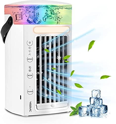 YANRU Mini Climatizzatore - 3 Livelli di Potenza Tubo Condizionatore Portatile, Protezione Ambientale Ventilatore Ghiaccio, per Dell'Ufficio Domestico