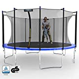 Kinetic Sports Gartentrampolin TPLH14 (Ø 430 cm, blau)