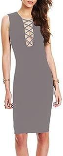 Women's Summer Sleeveless Bodycon Stretch Evening Club Bandage Dresses