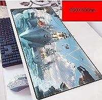 マウスパッド戦艦スピードゲーミングマウスパッド| 900 x 400mm大型| 3mm厚ベース|完璧な精度とスピード C