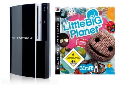 Playstation 3 - Konsole 80 GB inkl. Dual Shock 3 Wireless Controller + Little Big Planet