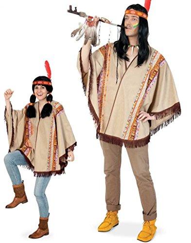 Party-Chic 14670 Kostüm-Indianer-Poncho-OneSize