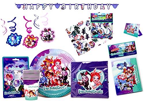 Set de decoración para fiestas de cumpleaños para 8 niños (47 piezas)
