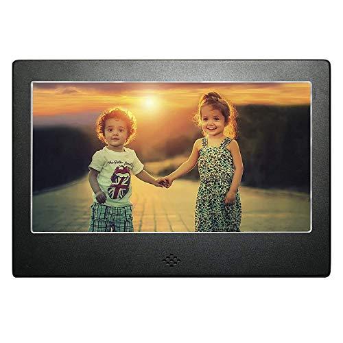 """DIGIFLEX 7\"""" Digitaler Bilderrahmen mit Blauer Hintergrundbeleuchtung Hohe Auflösung + 8GB SD-Speicherkarte & Fernbedienung - UK Stecker"""