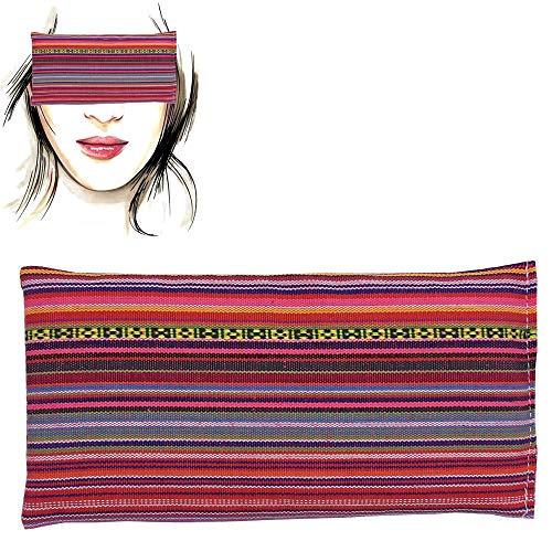 Almohada para los ojos 'Alpujarreña rosa' | Semillas de Lavanda y arroz | Yoga, Meditación, Relajación, descanso de ojos...