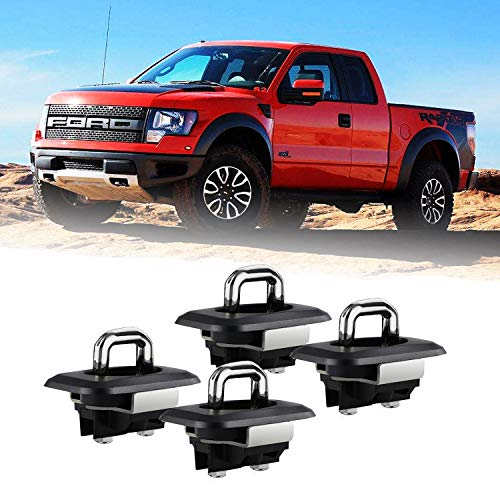 Dibanyou Tie Down Anchors Truck Bed Side Wall Anchors Retractable Flush Fit for 1998-2014 F-150, Super Duty 1998-2016 4pcs
