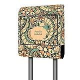 Banjado Design Briefkasten personalisiert mit Motiv Vintage Flower 3 | Stahl pulverbeschichtet mit...