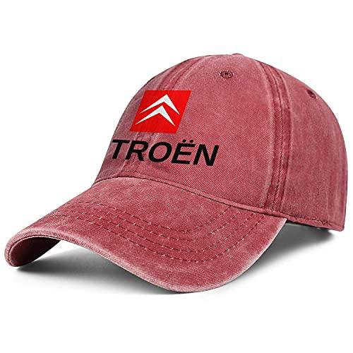 Mens Womens Baseball Cap Entspannt Citroen Car Logo Messy verstellbare Trucker Hat Sandwich Baseball Cap