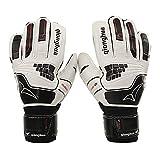 LBXZ Guantes de portero de fútbol profesionales guantes de portero resistentes al desgaste, guantes de fútbol prácticos, látex, PVC+esponja guantes de portero de fútbol (talla 10)