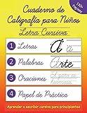 Cuaderno de Caligrafía para Niños: Escribir Letra Cursiva en Español