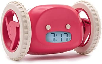 Electronic Alarm Clock The Original Alarm Clock On Wheels   for Adults and Kids Cool, Fun Clockie Jump, Chase, Run-Away, Move, Rolling