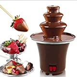 MIAOLEIE Fuente De Chocolate Fondue-Machine Cascada Calefacción Mini con DIY Hotpot Tres Capas para Party Party