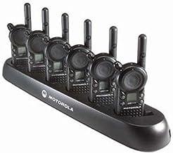 6 Motorola CLS1110 - UHF 1 Watt 1 Channel Radios & 1 Motorola 56531 6 Radio Charger(Black)