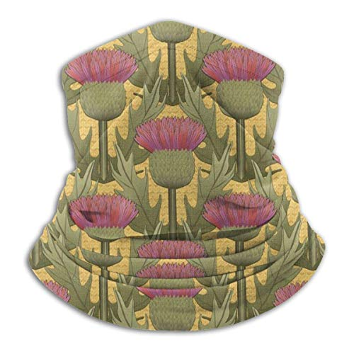 Mathillda Honing Distel Fleece Halswarmer - Omkeerbare halsmanchetslang, veelzijdige oorwarmer-hoofdband