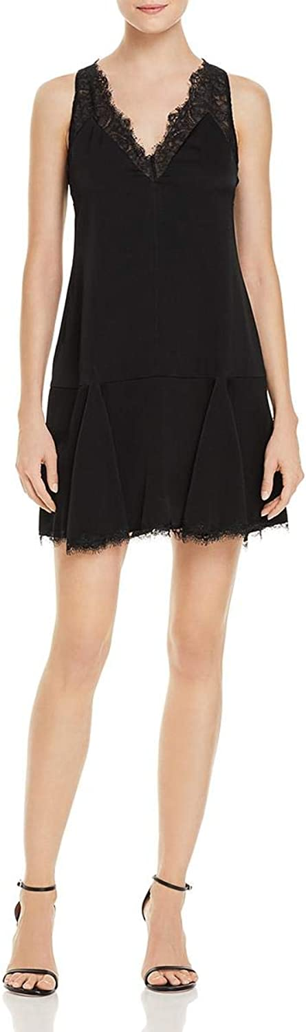 BCBG Womens Mamie Sleeveless Lace Slip Dress