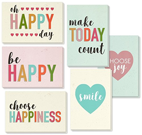 Encouragement Greeting Cards Set, Blank Cards with Envelopes (4 x 6 in, 36-Pk)