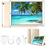 Tablette Tactile 10 Pouces 3Go RAM 32Go ROM Android 9.0 Tablettes Doule SIM 4G/WiFi 8500mAh Batterie Quad Core ( GPS, Bluetooth, OTG, Netfilix )- Or