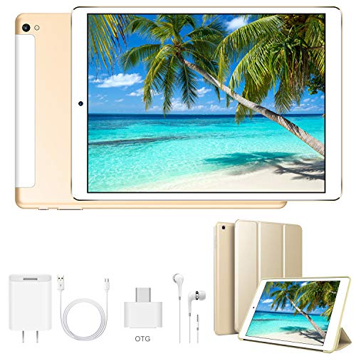 tablet cinesi 4G Tablet 10.1 Pollici WiFi 32GB ROM 3GB RAM 3 Slot Android 9.0 Quad-Core Batteria 8500mAh Dual SIM Bluetooth / GPS / OTG 8MP Camera Tablet Sbloccato DUODUOGO G12