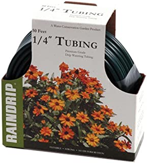 Raindrip R256DT 1/4-Inch x 50-Foot Vinyl Drip Irrigation Tubing, Green