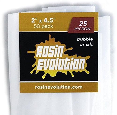 Rosin Evolution Press Bags - 25 Micron Screens (2' x 4.5') - 50 Pack
