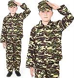I LOVE FANCY DRESS LTD Traje DE Disfraces del EJÉRCITO para NIÑOS Disfraz DE Soldado Uniforme Militar para NIÑOS 3 Piezas (PEQUEÑO)