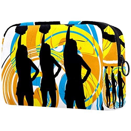 Dauerhaft Kosmetiktasche Kulturbeutel Reise Kulturtasche Verfassung Beutel Waschbeutel für Damen Herren für Reisen Pflegeprodukte Mädchen Cheerleader 18.5x7.5x13cm