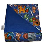 SENSORY GOODS Child Small Weighted Blanket MADE IN AMERICA - 5lb Medium Pressure - Fido Pattern/Blue -...