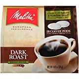 Melitta Dark Roast Coffee Pods for Senseo & Hamilton Beach Pod Brewers, 18 Count (Pack of 6)