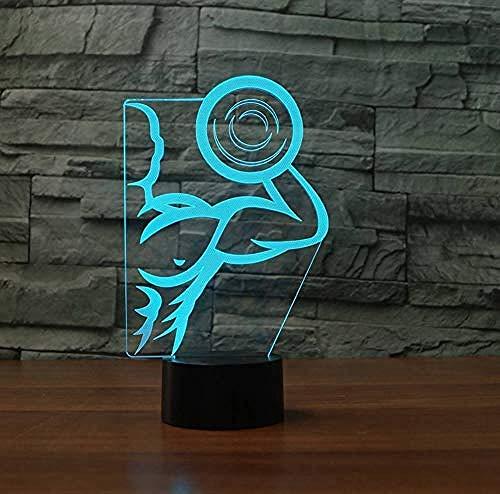 3D Illusion Nachtlicht Bluetooth Smart Control 7 & 16M Farbe Mobile App Led Vision Fitness Muskel Mann Modell RGB USB Tisch ara Baby Schlafzimmer Dekor bunt kreatives Geschenk
