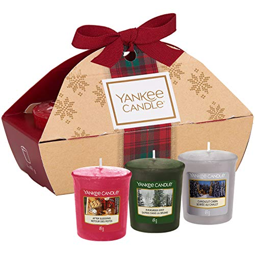 Yankee Candle Gift Set with 3 Scented Votive Candles,...